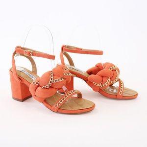 carrie-23 orange ankle strap sandal